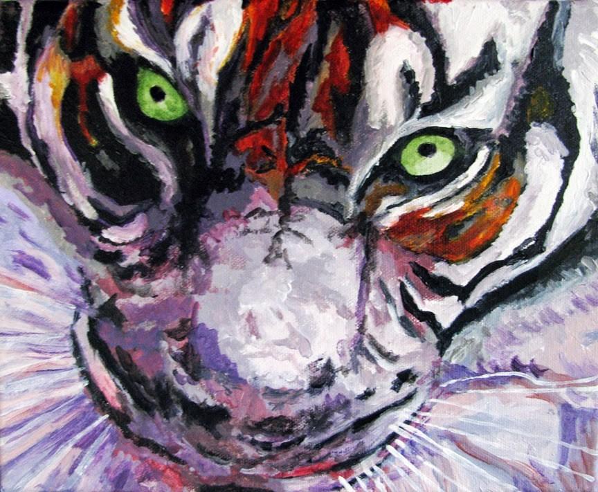 """""""Tiger Eyes"""" original fine art by Nan Johnson"""