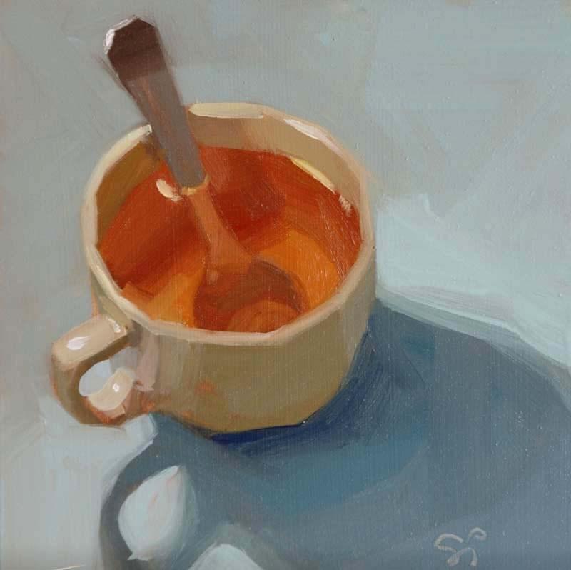 """Just a Tea"" original fine art by Istvan Schaller"