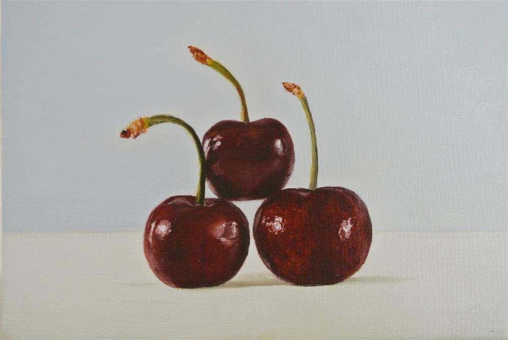 """Three Cherry Pyramid"" original fine art by James Coates"