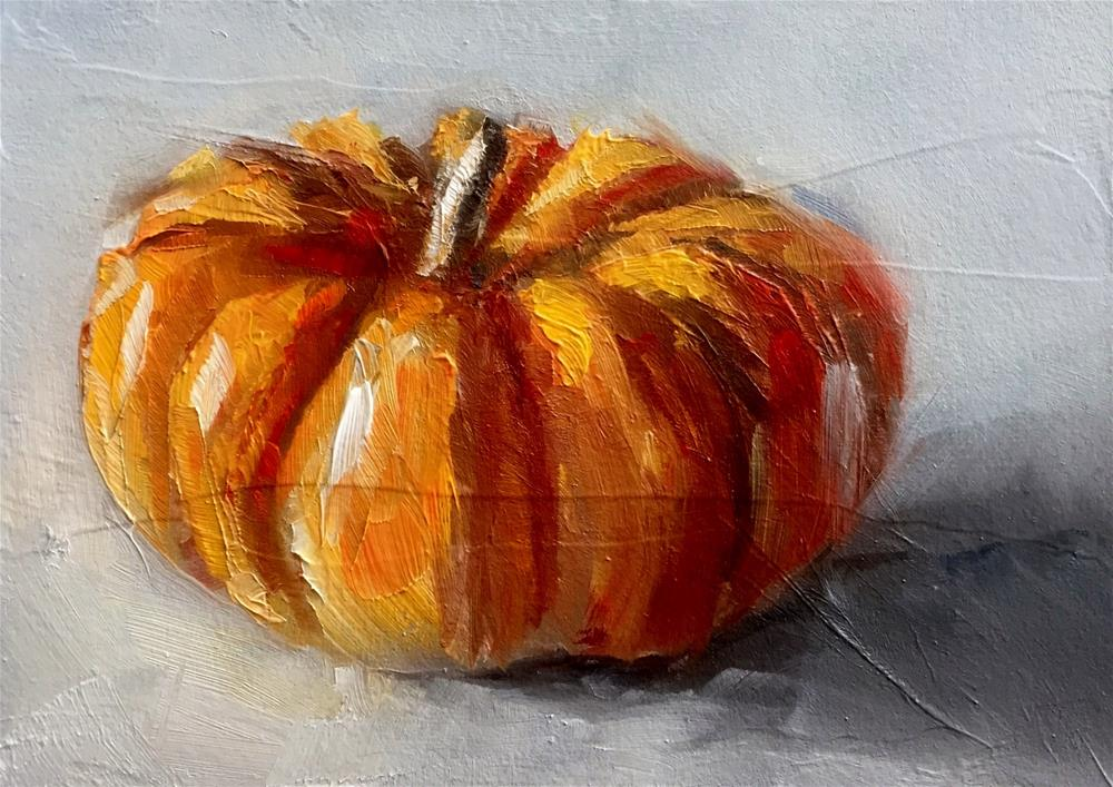 """Mini-Pumpkin"" original fine art by Gary Bruton"