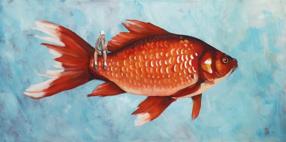 """The Fisherman"" original fine art by Ria Hills"