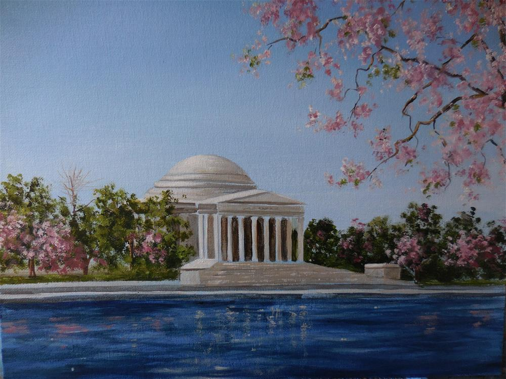 """The Jefferson Memorial"" original fine art by Terri Nicholson"