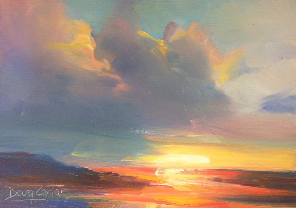 """"""" Beach Dreams """" original fine art by Doug Carter"""