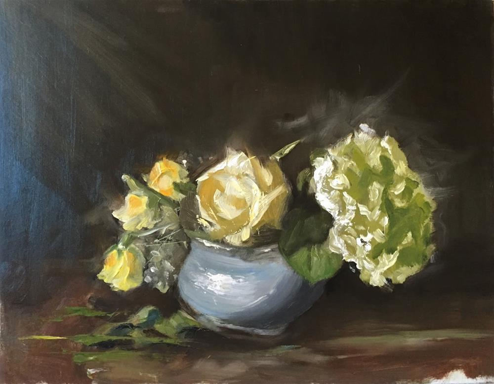 """Light on Blue Vase"" original fine art by Rick Blankenship"