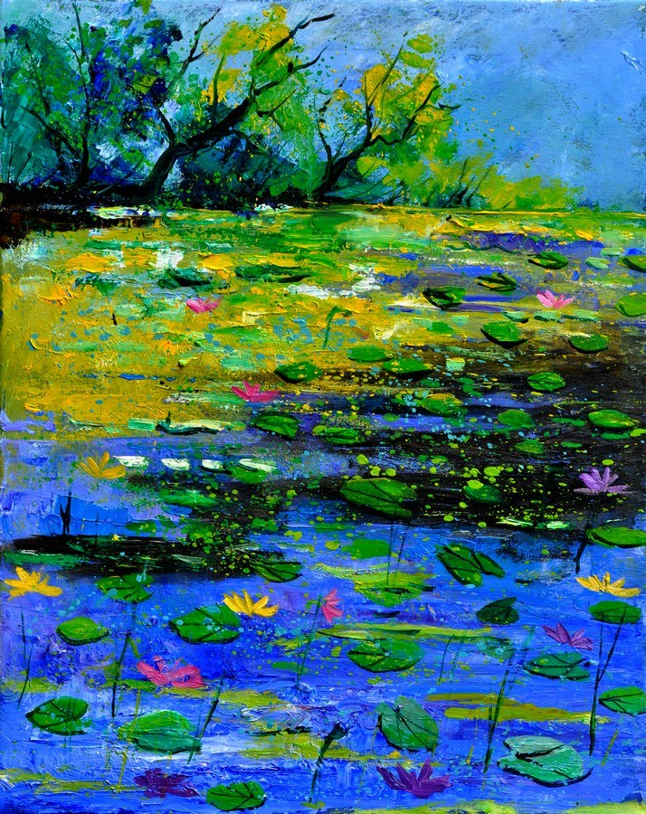 """pond 452150"" original fine art by Pol Ledent"