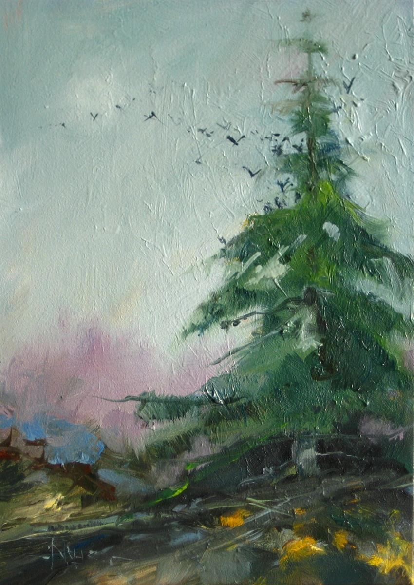 """""""The Resting Place oil landscape painting"""" original fine art by Robin Weiss"""