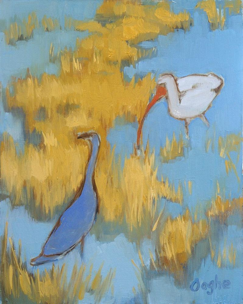 """Birds in the Florida Everglades"" original fine art by Angela Ooghe"