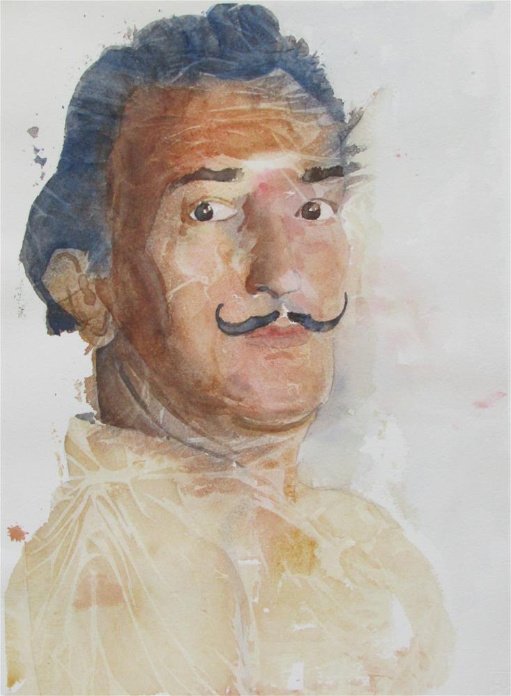 """""""Interpretacion en acuarela de Dali"""" original fine art by Yolanda Moreno"""