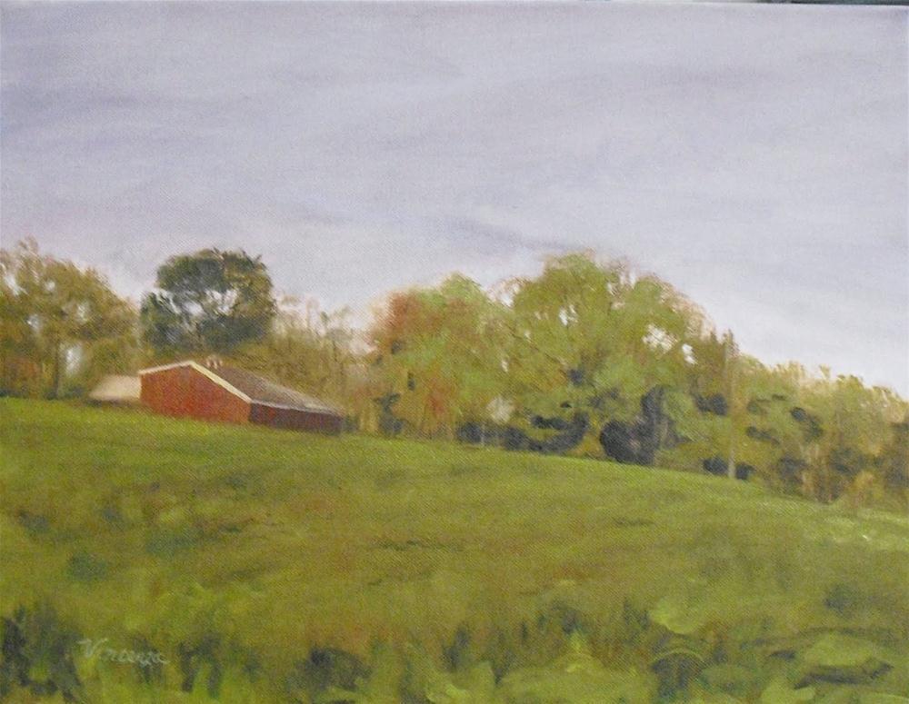 Allardale  Morning~ 14x18 ~oil on canvas original fine art by Vincenza Harrity