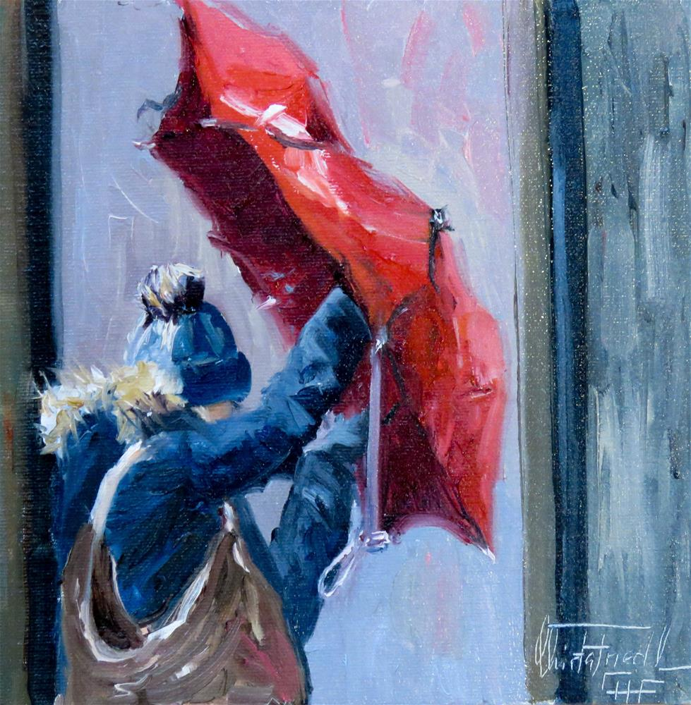 """a stormy day"" original fine art by Christa Friedl"