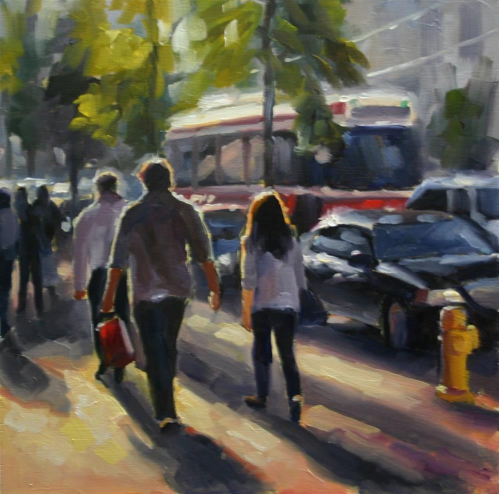 """Summer in the City, Toronto On"" original fine art by Catherine Jeffrey"