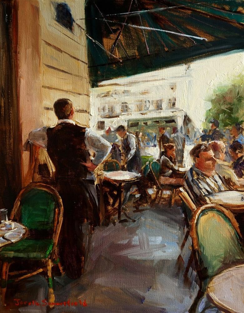 """""""Sidewalk Cafe in Paris"""" original fine art by Jonelle Summerfield"""
