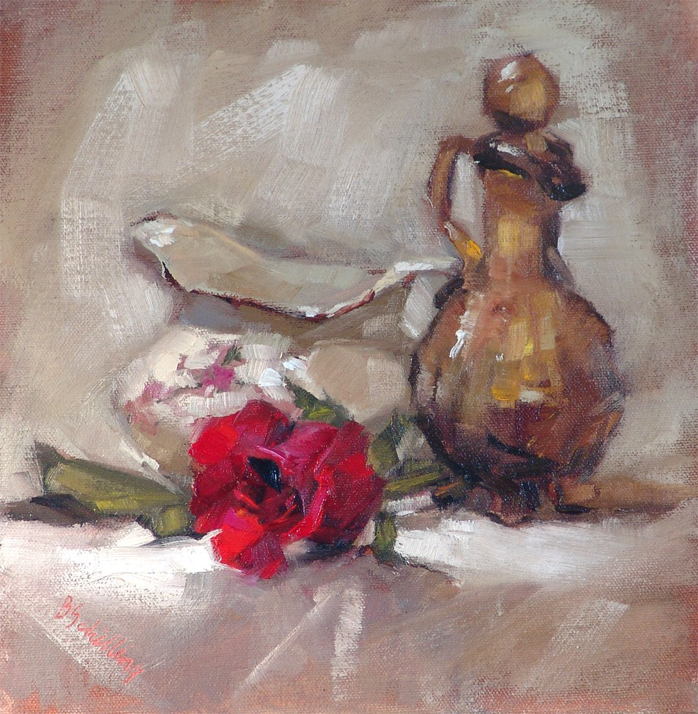 """Red Velvet"" original fine art by Barbara Schilling"