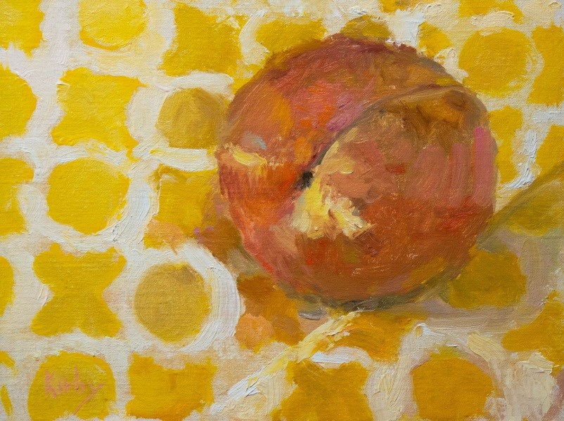 """Piccadilly Peach"" original fine art by Randall Cogburn"