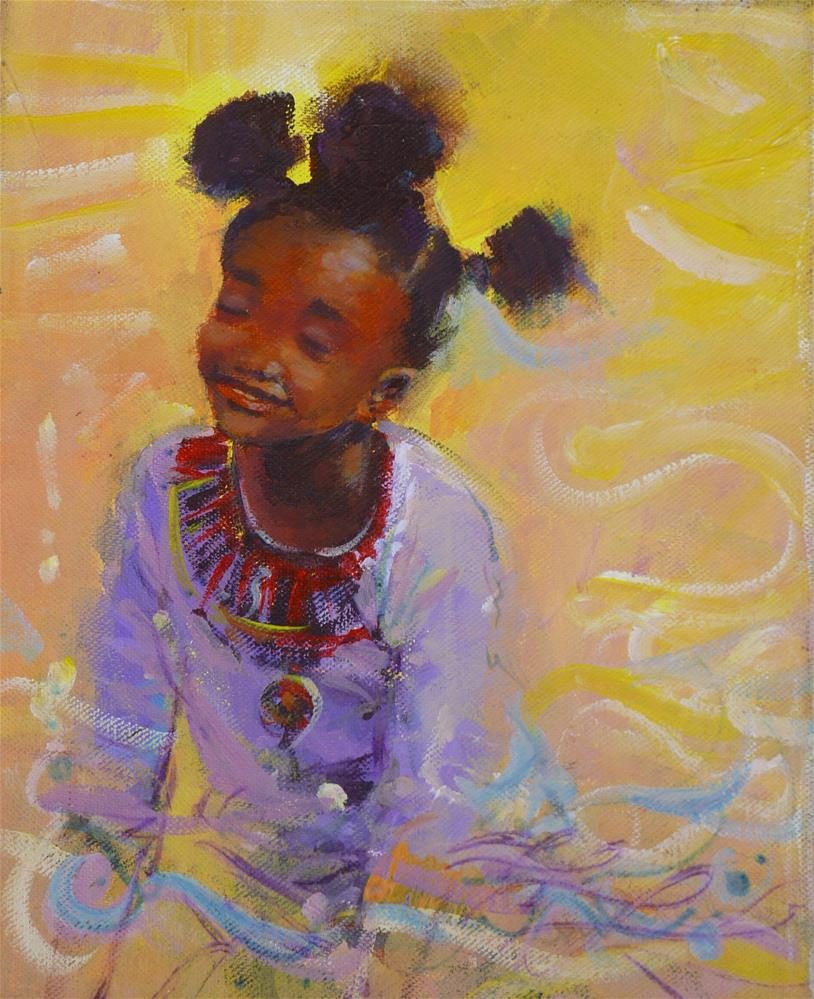 """AFRO 18"" original fine art by Adebanji Alade"