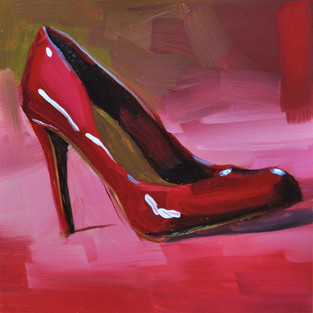 """Red Pump"" original fine art by Heather Bullach"