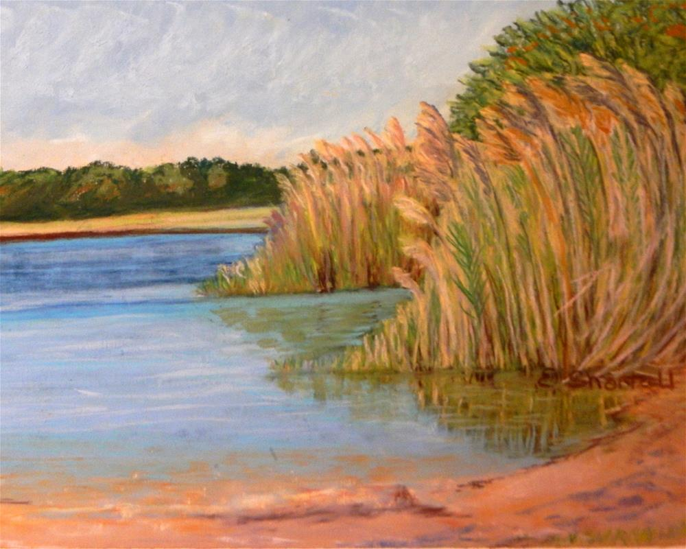 """Early Fall on the Choptank"" original fine art by Elaine Shortall"