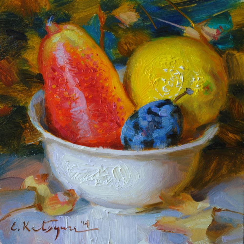 """""""Plentiful September"""" original fine art by Elena Katsyura"""