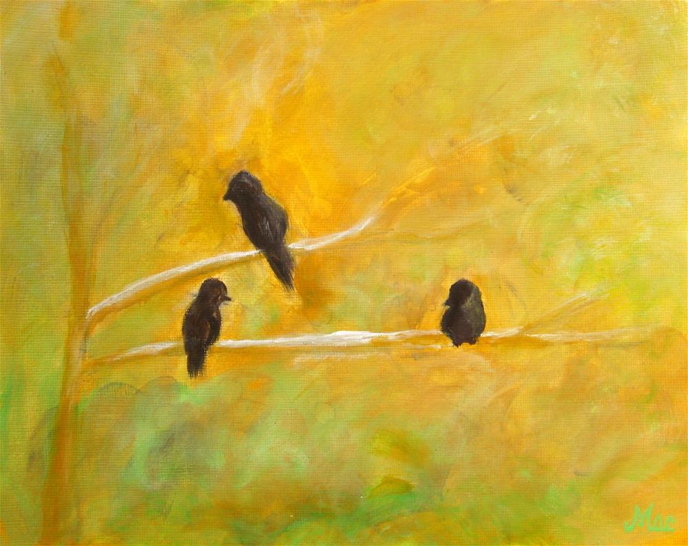 """3 Birds"" original fine art by Alina Frent"