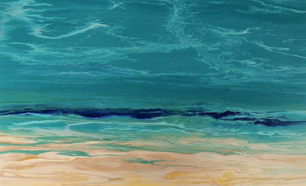 """Contemporary Seascape Abstract Beach Art Coastal Art Painting Royal Wave IV by International Conte"" original fine art by Kimberly Conrad"