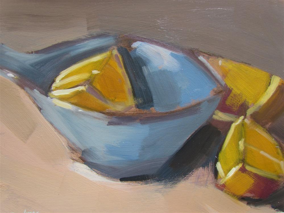 """""""oranges et coupelle"""" original fine art by gilles Poulizac"""