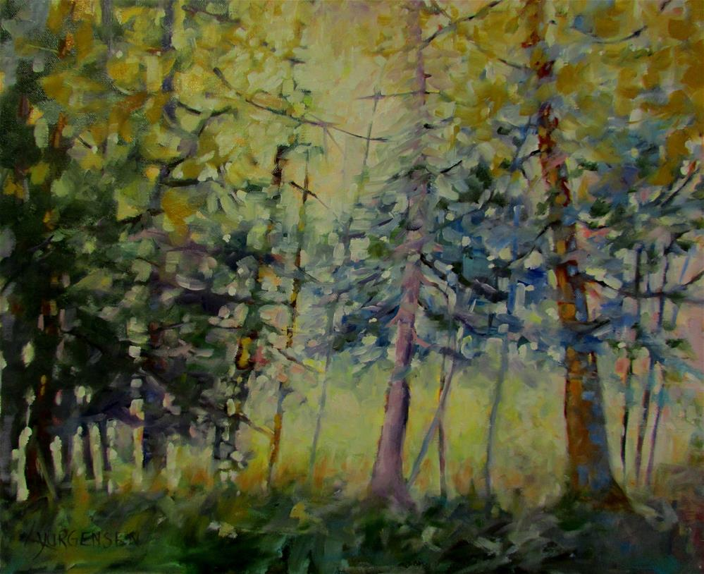 """20 x 24 inch oil Forest Dream #3"" original fine art by Linda Yurgensen"