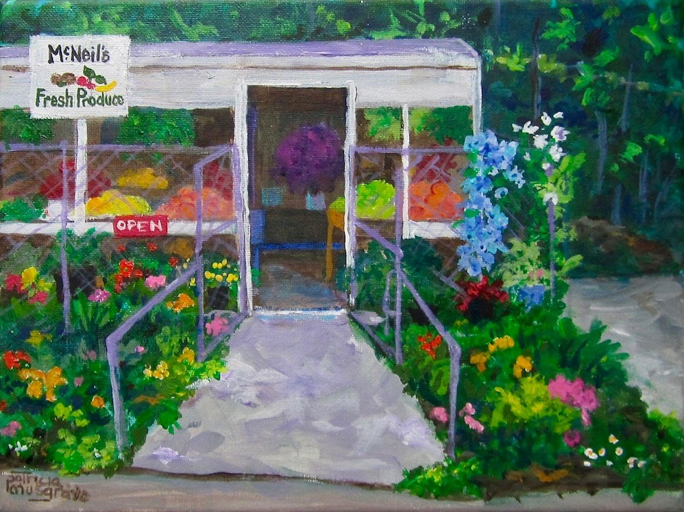 """Mc Neil's Produce"" original fine art by Patricia Musgrave"