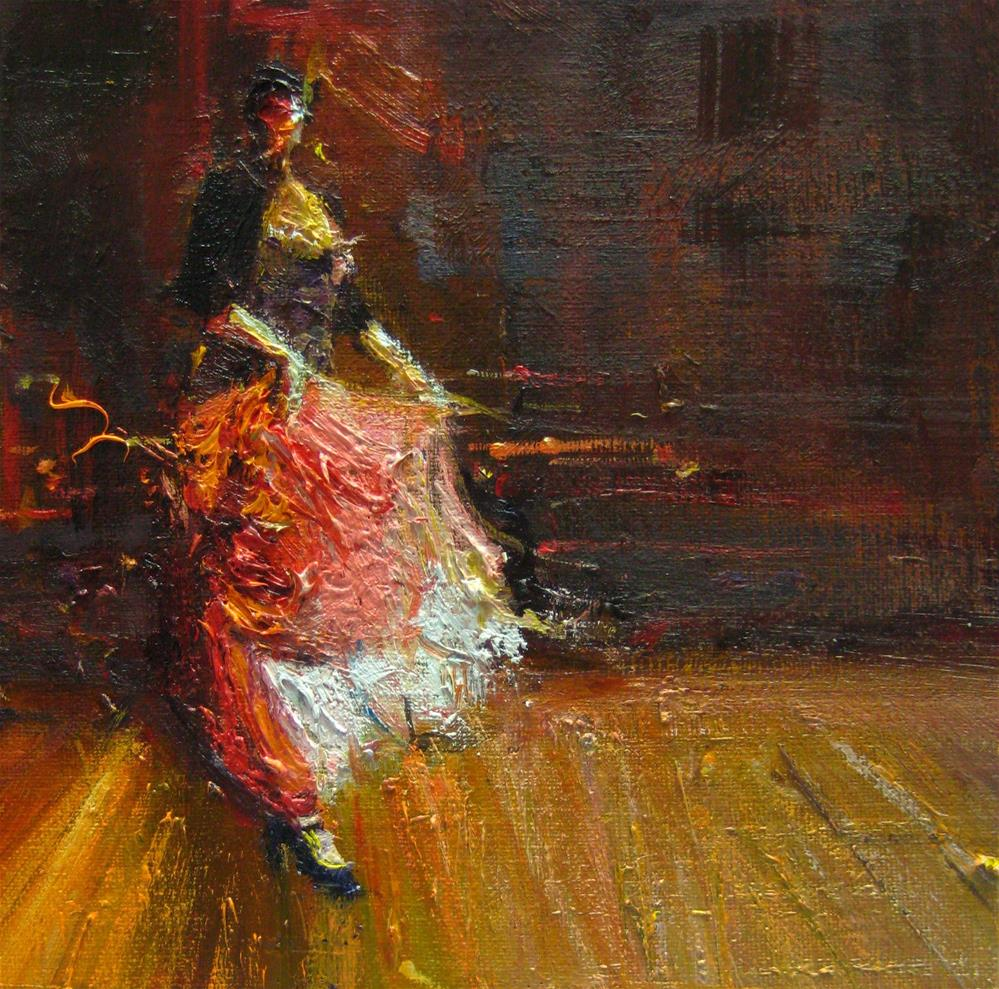 """FLAMENCO I"" original fine art by Adebanji Alade"