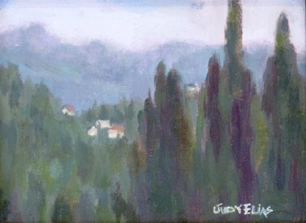 """A Rainy Day in the Italian Countryside"" original fine art by Judy Elias"