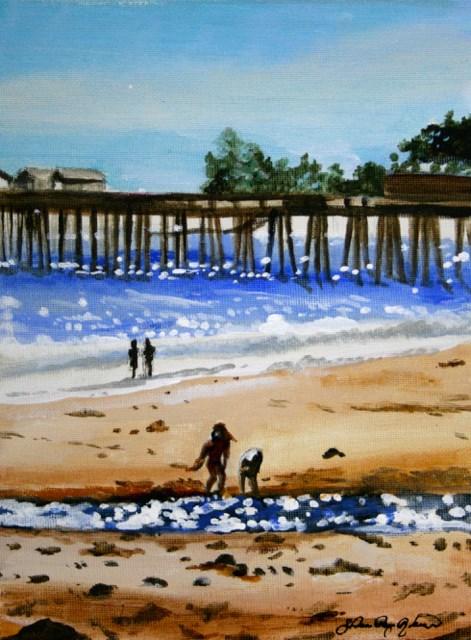 """""""Sea diamonds"""" original fine art by JoAnne Perez Robinson"""