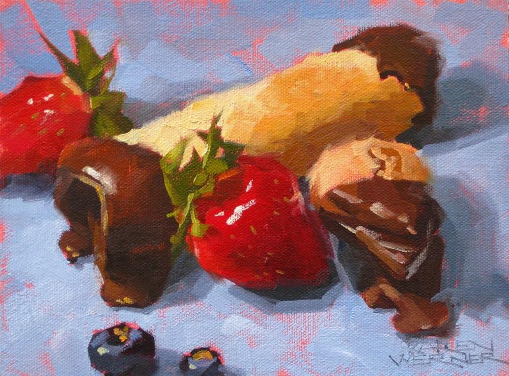 """""""Cannoli"""" original fine art by Karen Werner"""