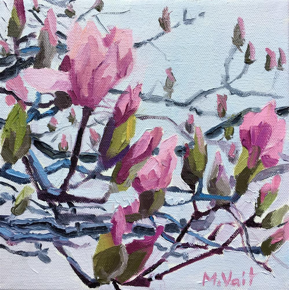 """Magnolias"" original fine art by Milda Vaitiekunaite"