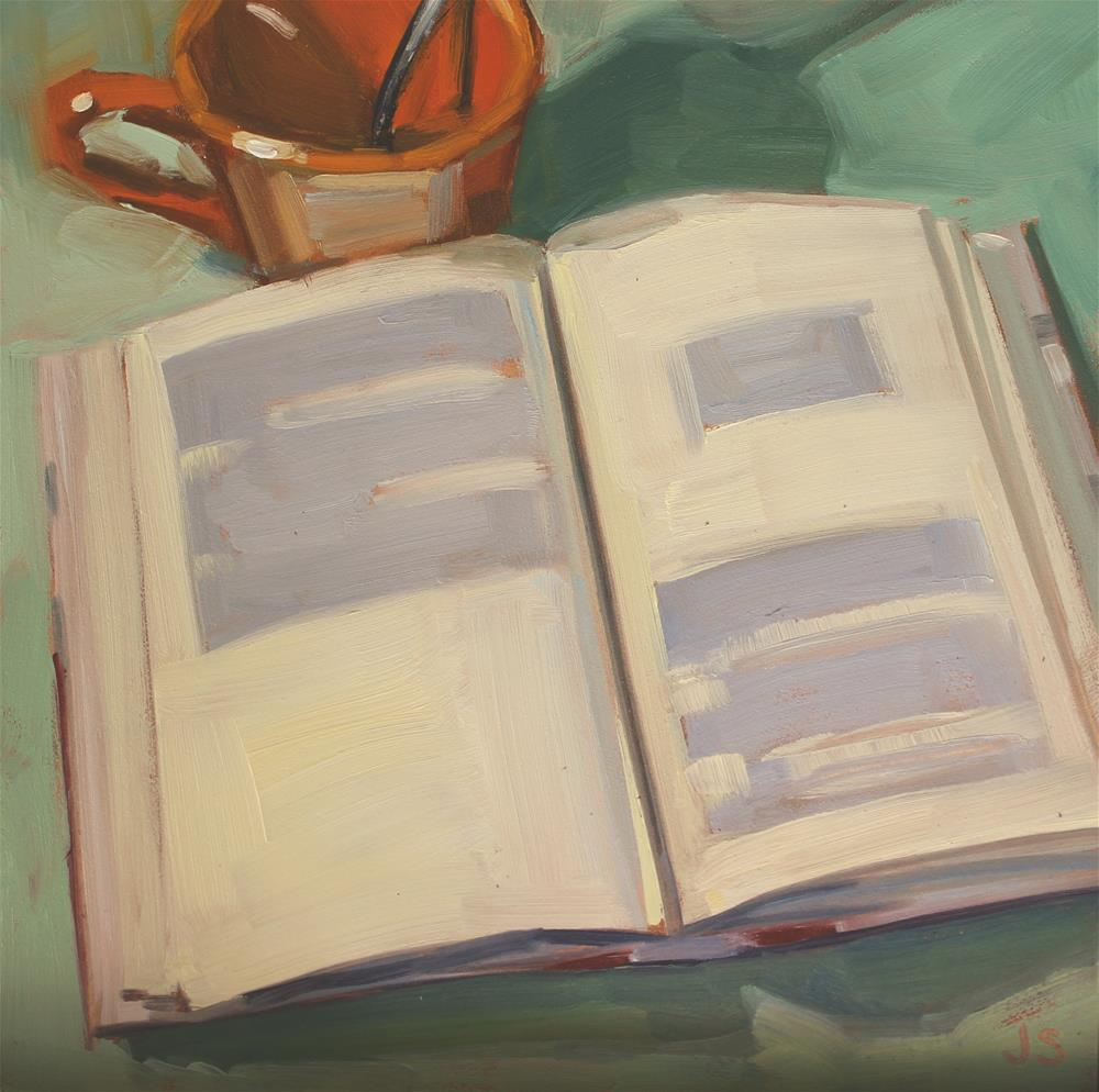 """October Book Club"" original fine art by Jamie Stevens"