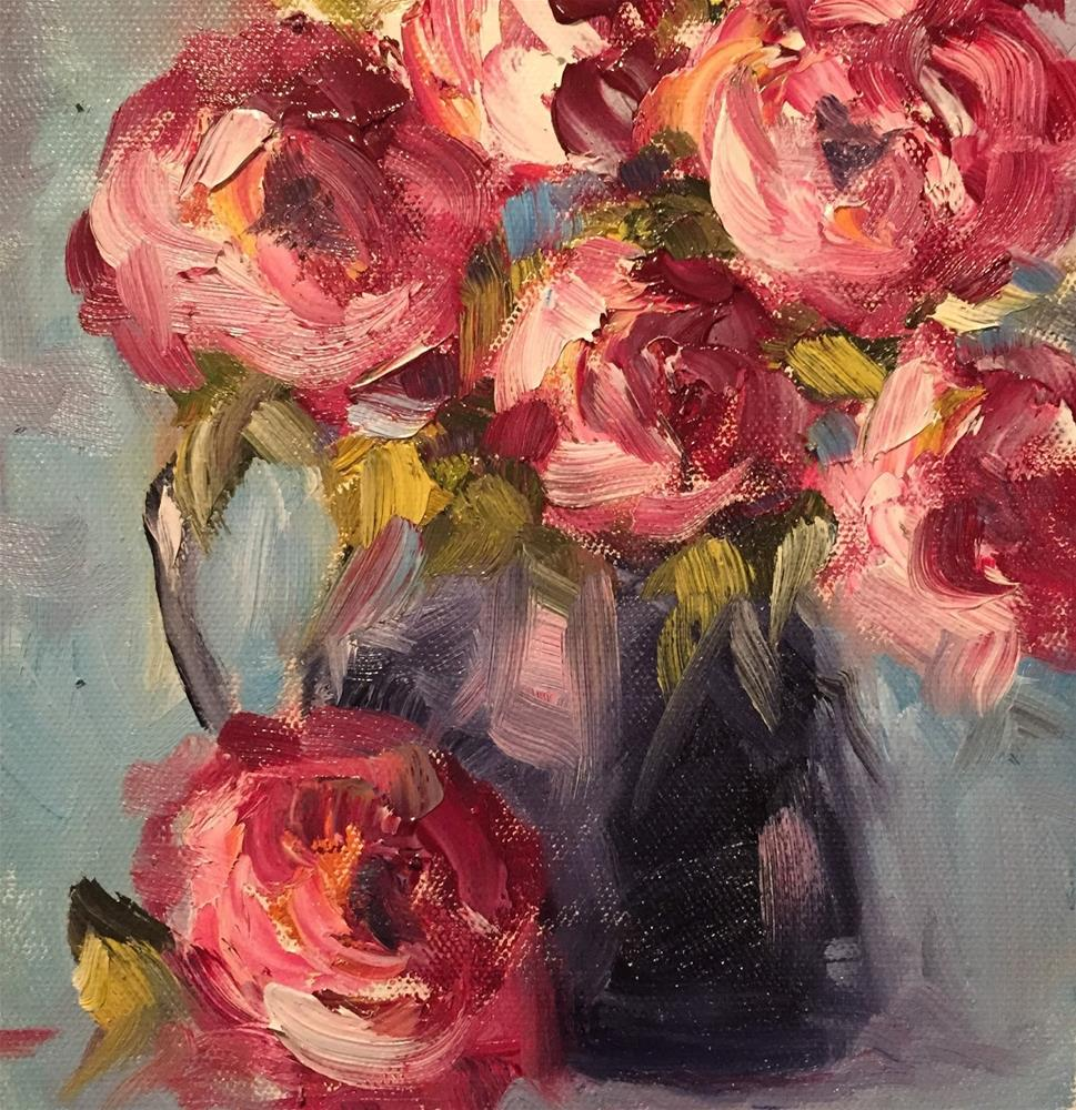 """Roses"" original fine art by Gayle Lambeth"