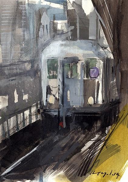 """""""Elevated - Sketch"""" original fine art by David Lloyd"""