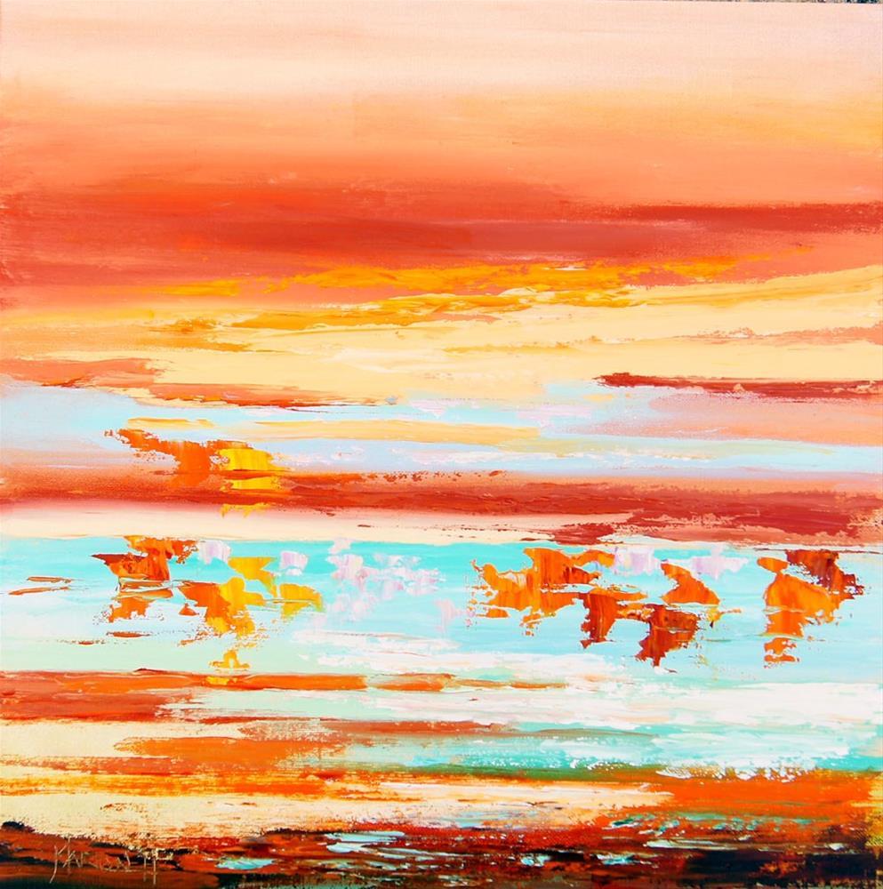 """Namibia Impressions 4 - Etosha Pan"" original fine art by Marion Hedger"