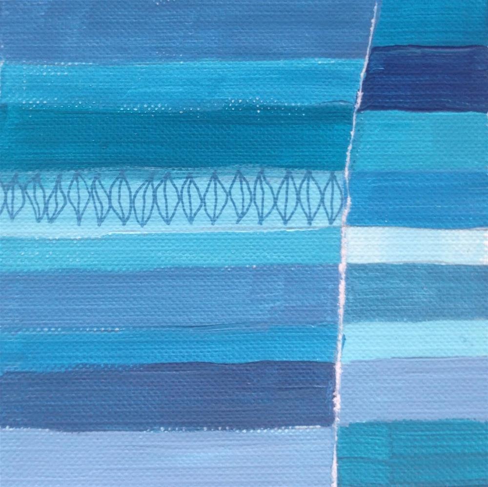 """Serial Stripes"" original fine art by Dotty  Seiter"