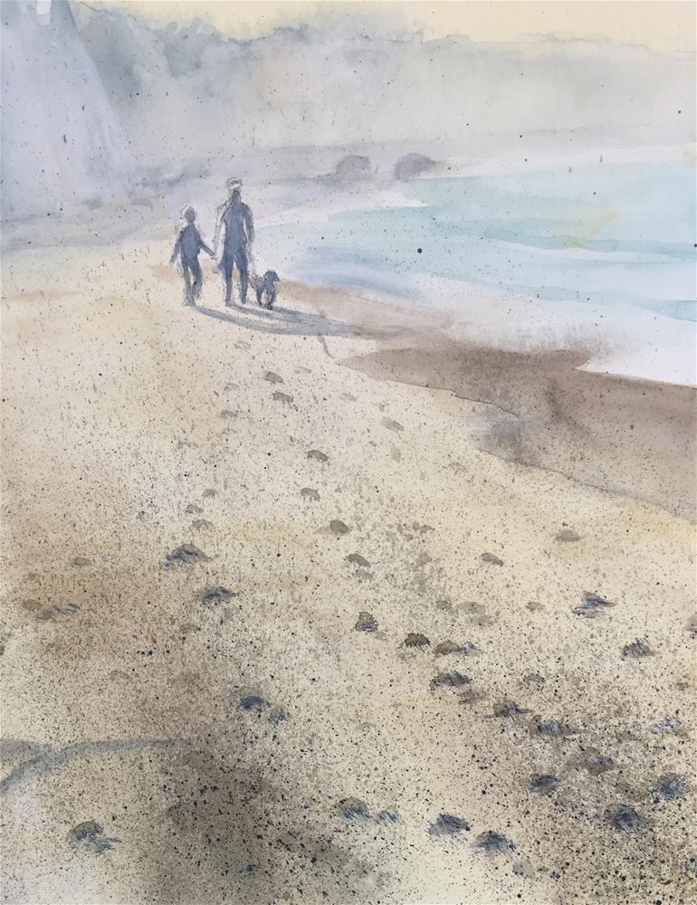 """A walk"" original fine art by Natasha Ramras"