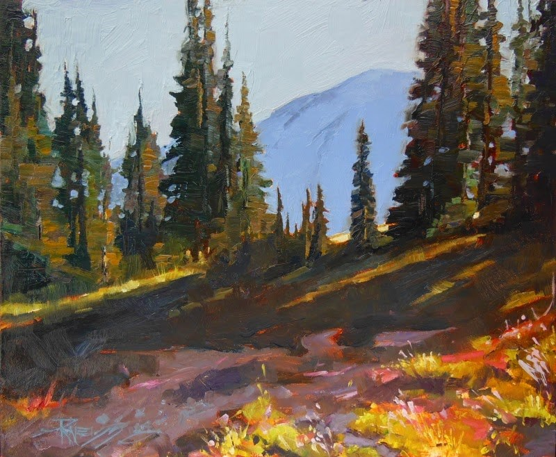 """Up the Grand Park Trail  oil landscape painting by Robin Weiss"" original fine art by Robin Weiss"