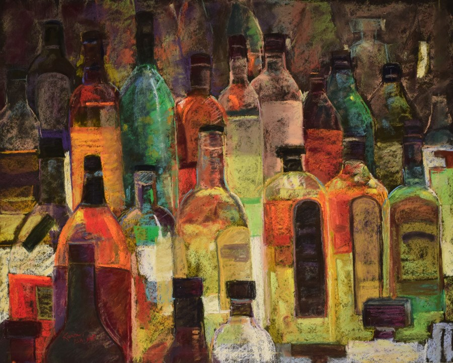 """Distill My Heart"" original fine art by karen israel"