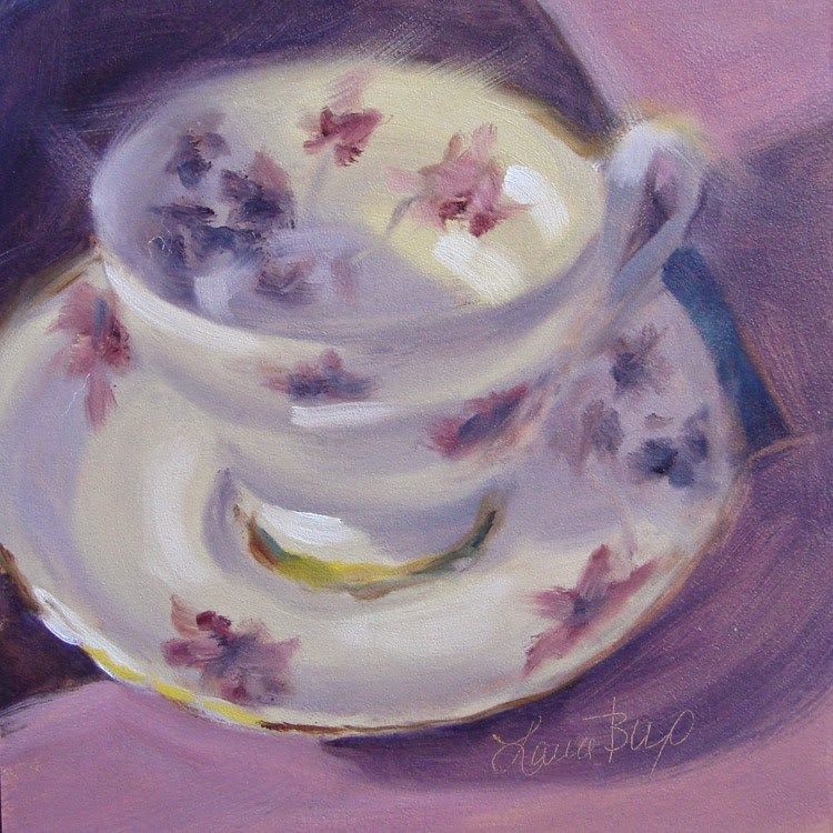 """Last Teacup (for a while) 329"" original fine art by Laura  Buxo"