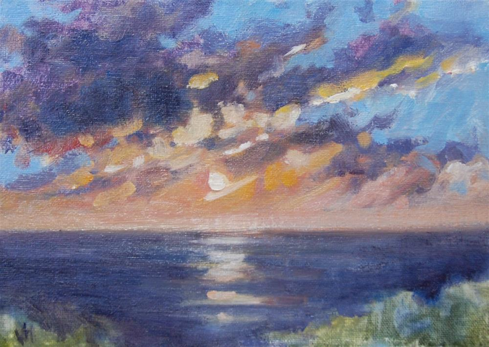"""PleinAir Breech Inlet Sunrise"" original fine art by Michel McNinch"