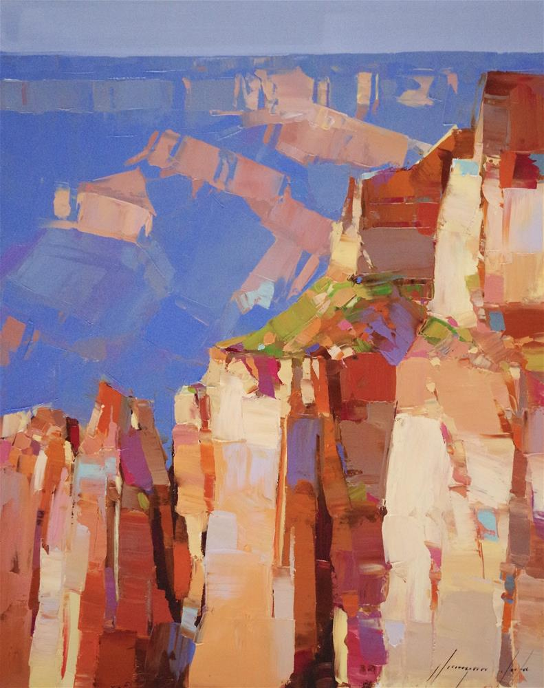 """Grand Canyon, Landscape oil Painting on Canvas, One of a Kind"" original fine art by V Yeremyan"