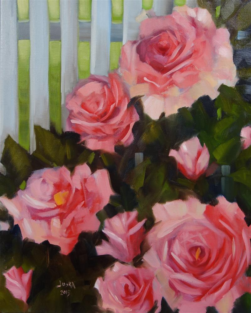 """Rose Garden"" original fine art by Elaine Juska Joseph"