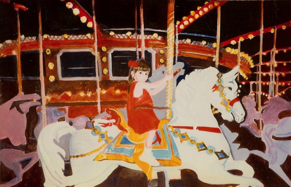 """Krystal and the Carousel"" original fine art by Reveille Kennedy"