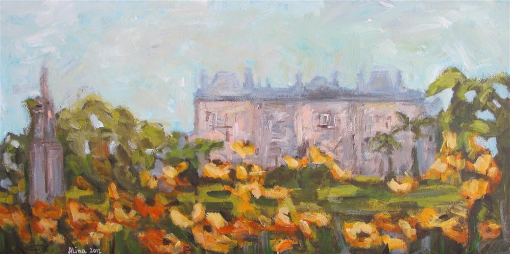 """Luxembourg Gardens"" original fine art by Alina Vidulescu"
