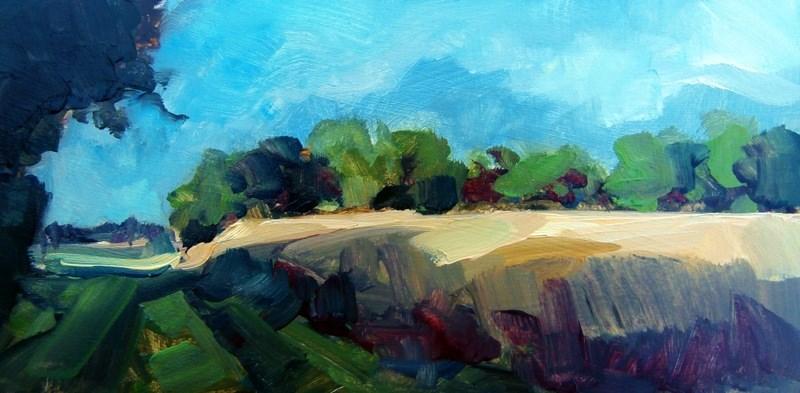 """Sun Stripe"" original fine art by Anne Wood"