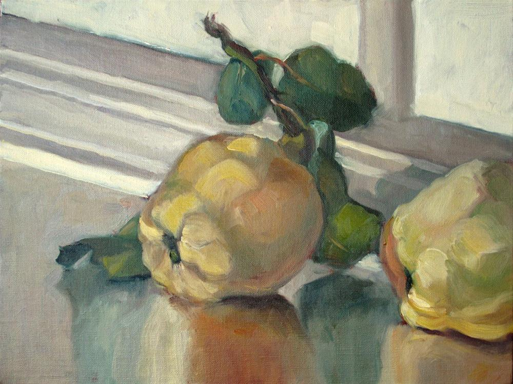 """A couple of quinces"" original fine art by Myriam Kin-Yee"