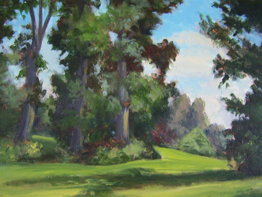 """Summer Trees"" original fine art by Joan Reive"