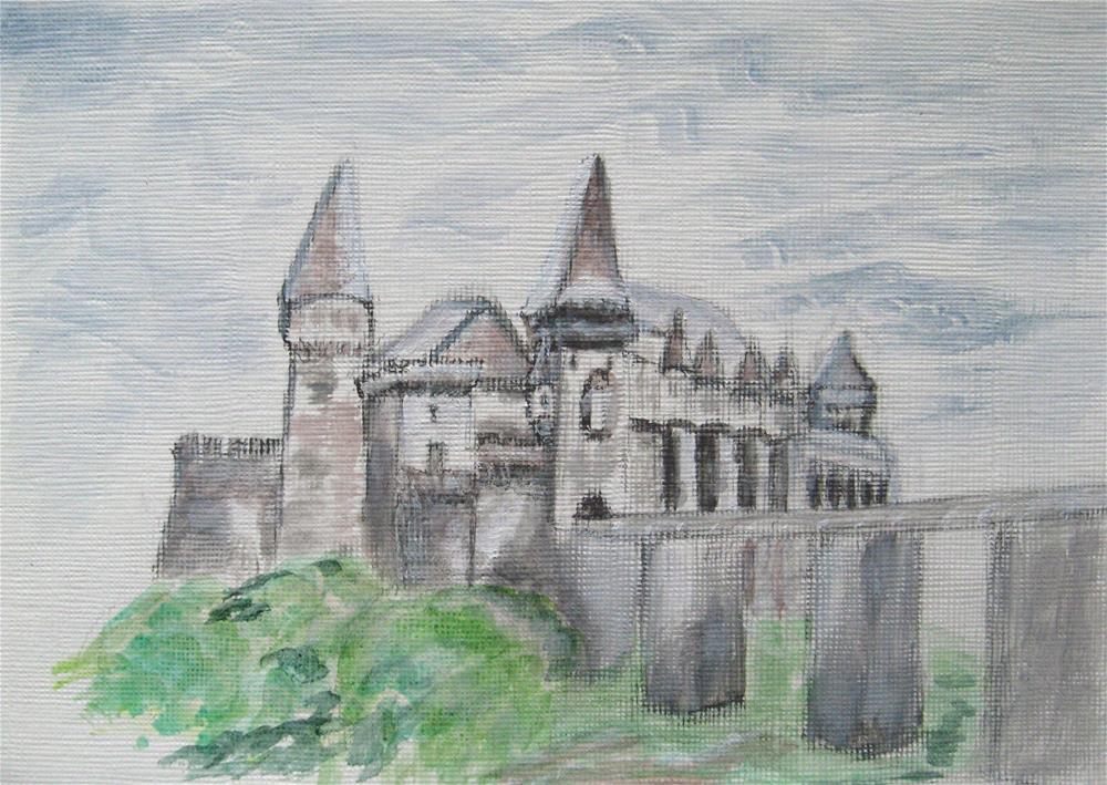 """The Castle"" original fine art by Alina Frent"